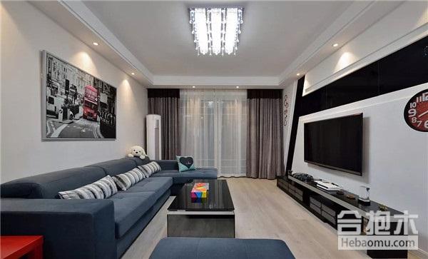 裝修公司,現代婚房设计,客厅电视墙,