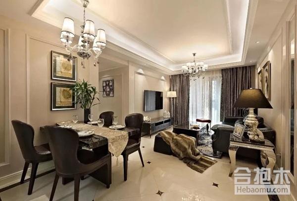 家装设计,一体式客餐厅,客餐厅,