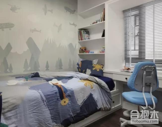 儿童房装修,转角衣柜设计图,衣柜,