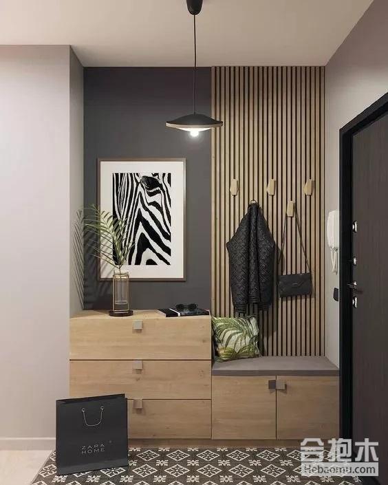 小户型装修,室内设计,玄关鞋柜,