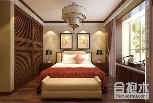 新中式風格,臥室衣柜效果,臥室衣柜,