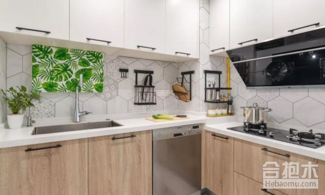 87平米北欧风格装修打造中西厨结合设计