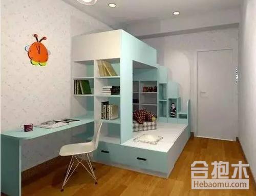 兒童房書桌設計效果圖,儿童房,書桌设计,