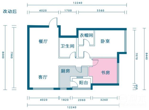 120㎡戶型改造案例,住宅設計,戶型改造,