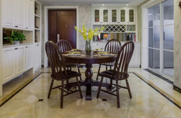 合抱木装修学堂-餐厅装修布置,圆形餐桌和方形餐桌应该怎么选?