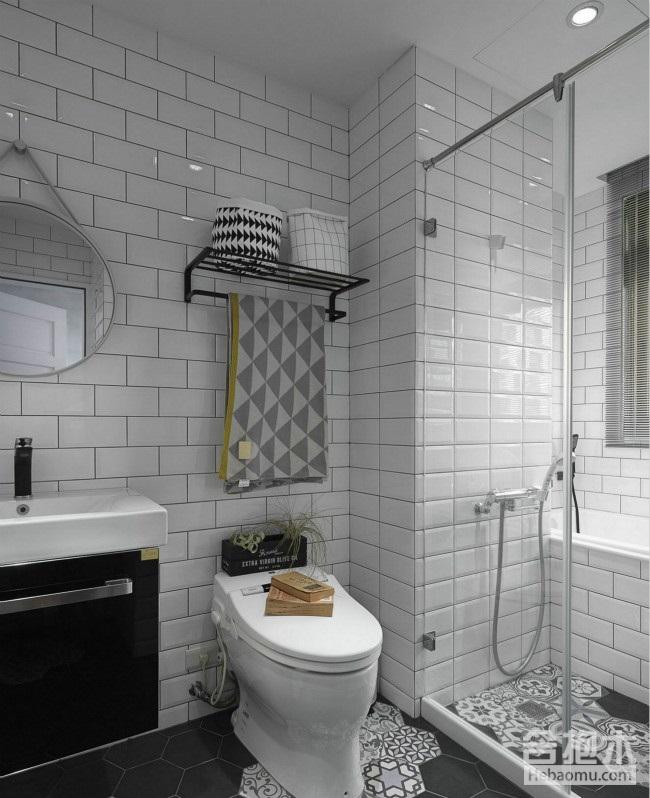 灰色調現代簡約風格案例,客廳還可以這樣做隔斷?