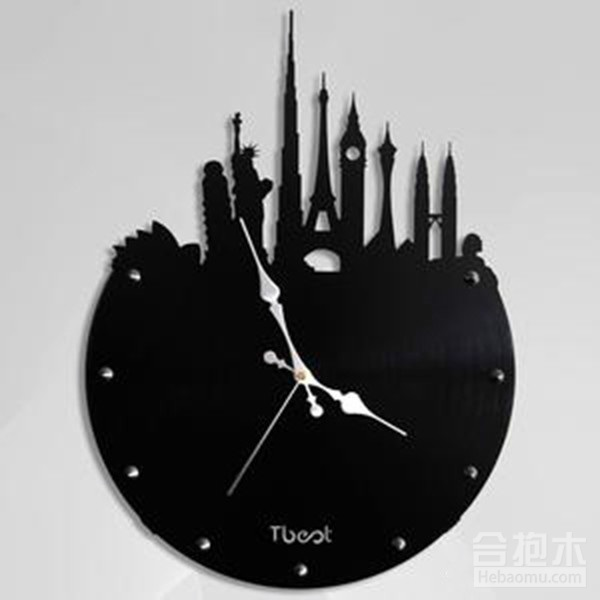 一、創意掛鐘之簡單時尚型