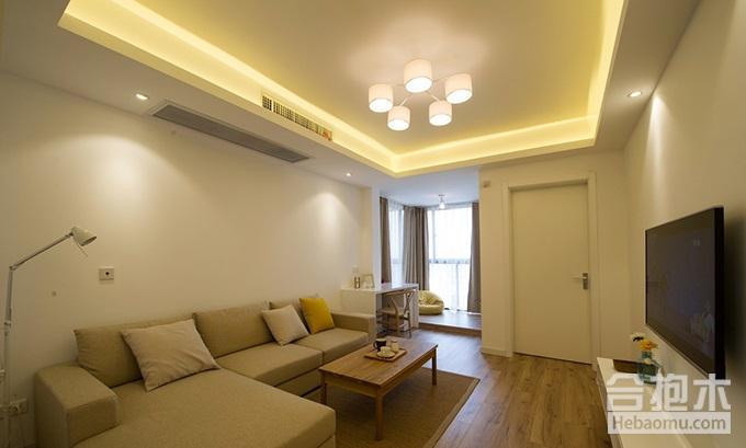 客厅地板砖颜色搭配选择二:浅色、白色和灰色