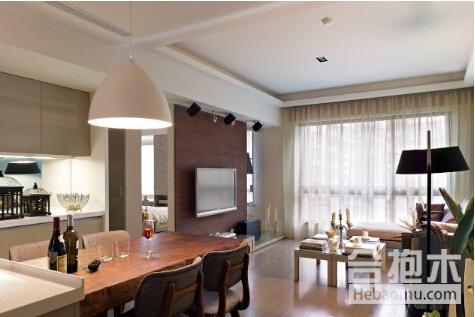 【装修公司】客厅一体化的设计风格,小户型这样做就对了