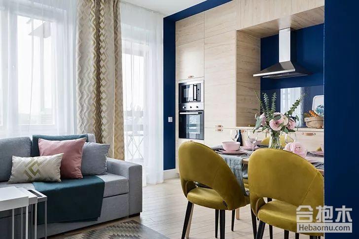 【装修公司】49平现代风格小公寓,超酷的色彩搭配和设计方案!