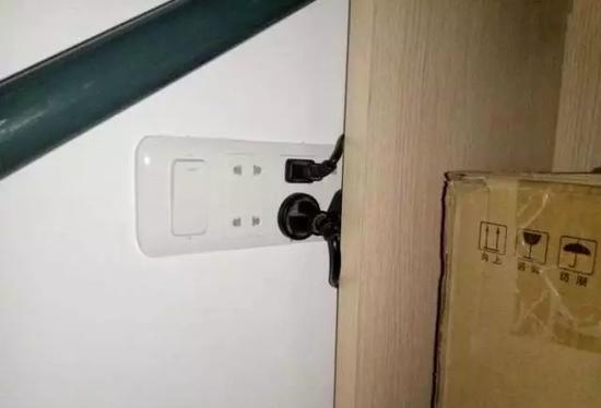 电源插座位置不合理