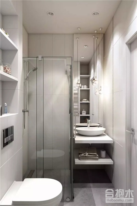 装修公司:10张小户型卫生间干湿分离装修效果图送你!