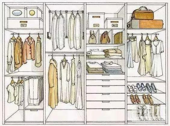 设计师教你衣柜正确布局,衣物收纳更有条理