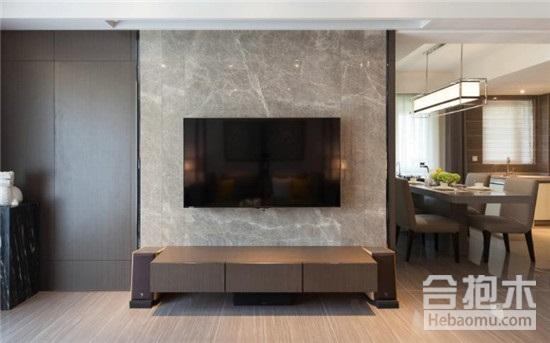 找广州装修公司先看客厅大理石电视背景墙图片!