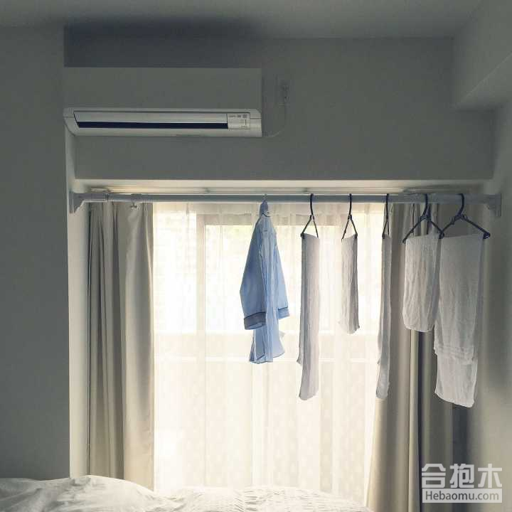 晾衣杆加取暖器