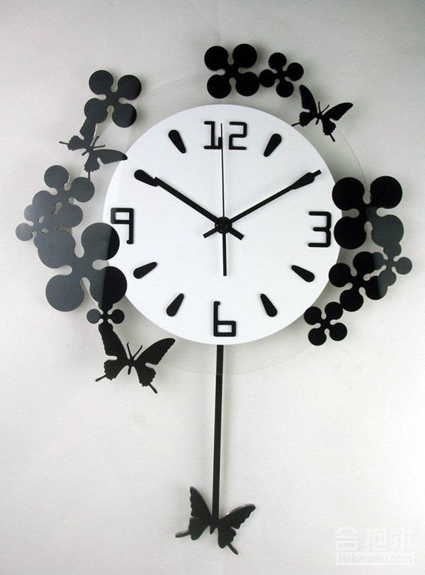 二、创意挂钟之蝴蝶造型