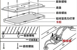 合抱木裝修學堂-方形吸頂燈安裝圖解 教您如何安裝